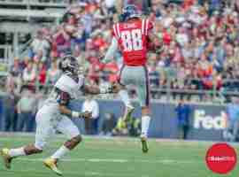 Cody Core makes acrobatic catch vs. State
