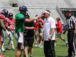 Ryan Buchanan talks to Coach Freeze