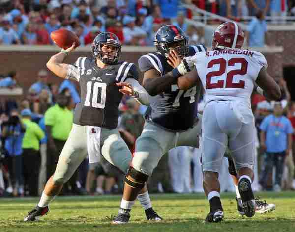 Rebels' lose lead, but see comeback bid fall short as No. 1 Alabama defeats Ole Miss 48-43