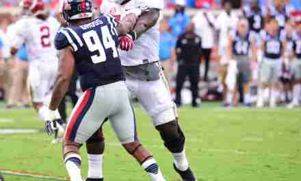 Rebels' Issac Gross concerned about number of hits on QB Chad Kelly