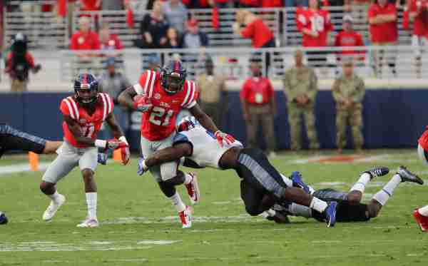 No. 16 Ole Miss defeats Memphis 48-28 on Homecoming night