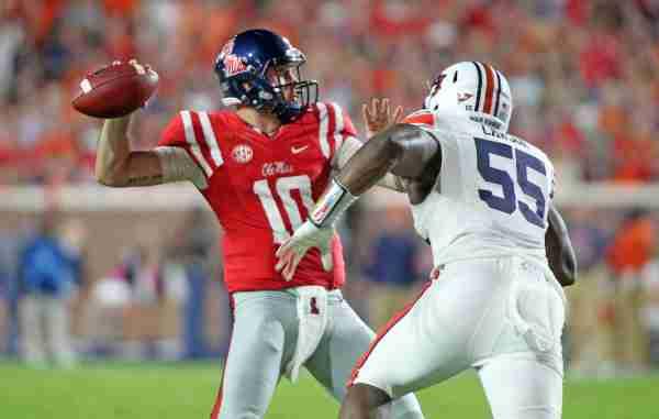 Rebels drop hard-fought game to No. 15 Auburn, 40-29