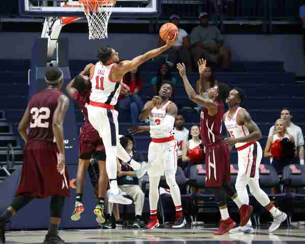 Ole Miss cruises to victory in 90-66 exhibition win over Morehouse College