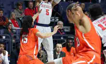Rebels use strong showing on offense to defeat Sam Houston State, 82-69