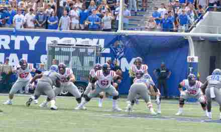 Ole Miss offensive line prepares for the Razorbacks