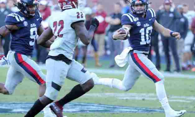 Rebels run all over New Mexico State, 41-3