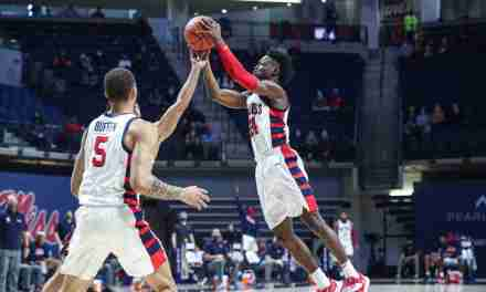 WATCH: Jarkel Joiner talks about the Rebels' 61-50 win over A&M