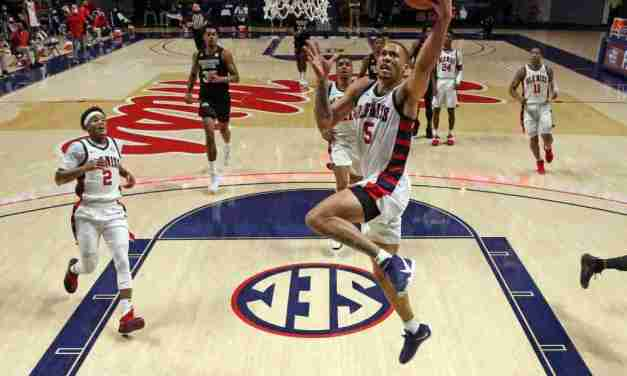 Rebels' Four-Game Win Streak Snapped by State, 66-56