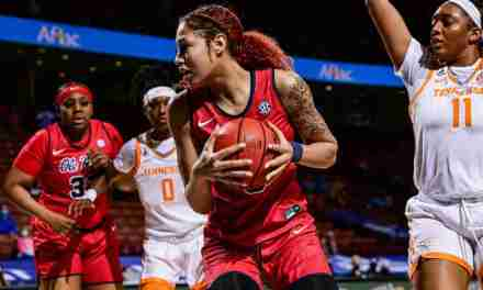 Rebels Eliminated from SEC Tournament by Tennessee in Thriller, 77-72