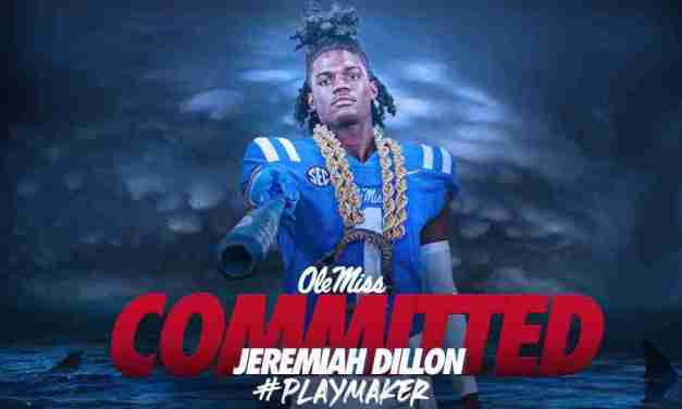 Speedy, in-state wide receiver Jeremiah Dillion commits to Ole Miss