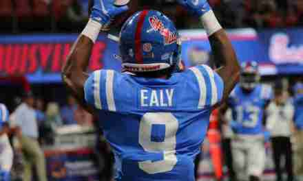 Ole Miss running back Jerrion Ealy looks ahead to playing Alabama
