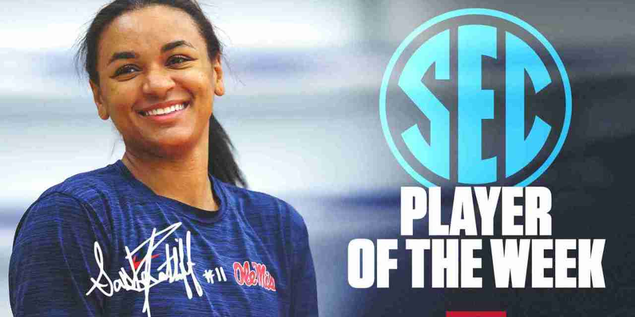 Volleyball's Ratliff Named SEC Player of the Week