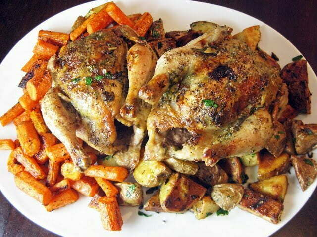 Herb-Roasted Cornish Hens with Root Vegetables - TheRecipe.Website