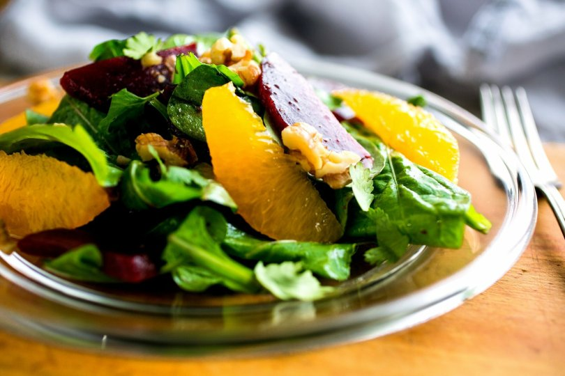 Baby Greens Salad with Orange and Olives - TheRecipe.Website