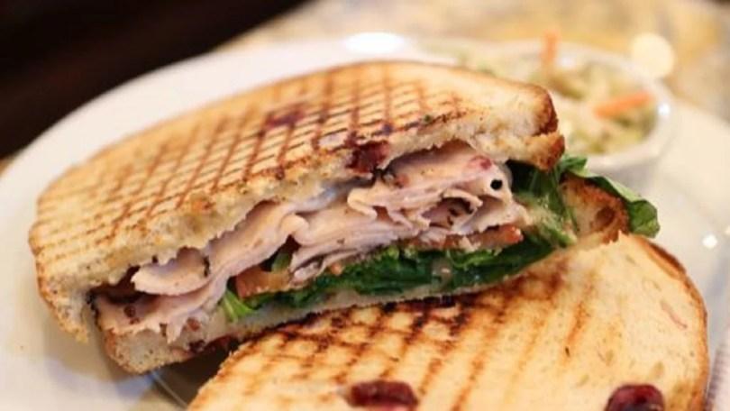 Cornbread Turkey and Cranberry Sandwich