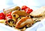 Sausages with Tomato Onion & Mushroom Relish - TheRecipe.Website