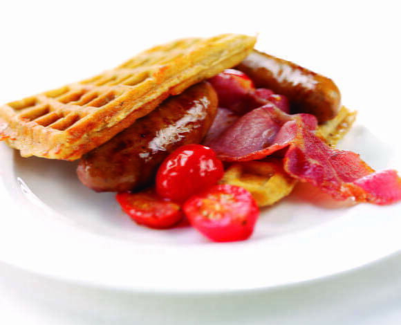 Cheese and Onion Breakfast Waffles - TheRecipe.Website