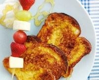 Eggy Bread with Fruit Kebabs