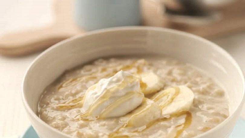 Honey and Yogurt Porridge with Banana