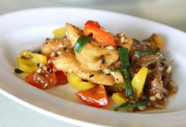 Fish with Sweet Peppers