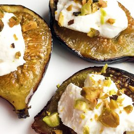 Honey-Roasted Figs with Labneh & Pistachios