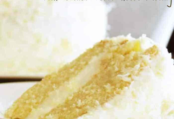 Coconut Cream Cake With Coconut Cream Cheese Frosting The Recipe