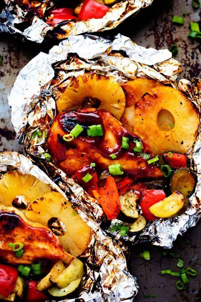 Grilled Hawaiian Barbecue Chicken in Foil | Healthy ...