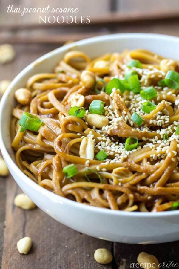 Thai Peanut Sesame Noodles