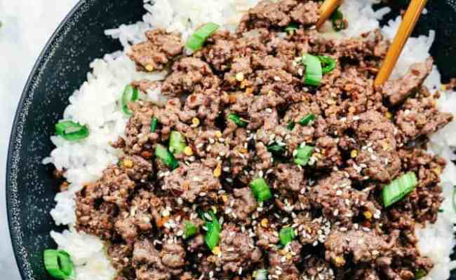 Korean Ground Beef And Rice Bowls The Recipe Critic