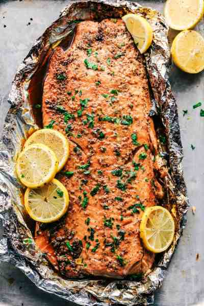 Garlic Brown Sugar Glazed Salmon