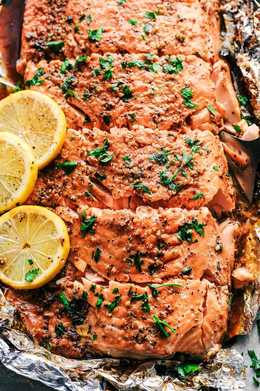 Garlic Brown Sugar Glazed Salmon The Best Salmon Ever