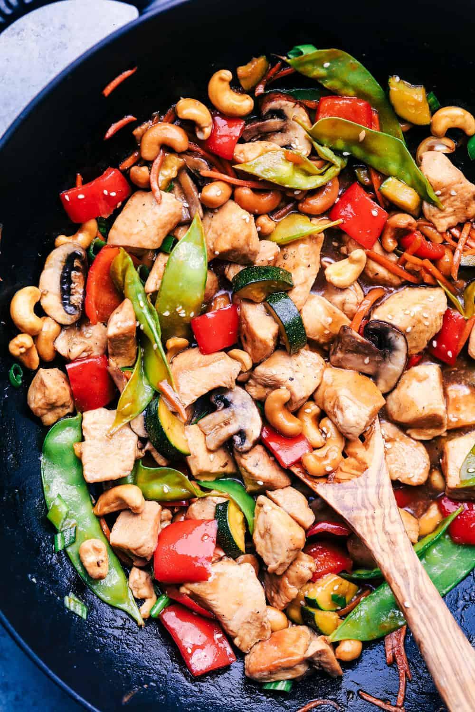 Cashew Chicken Stir Fry - Healthy Chicken Recipes