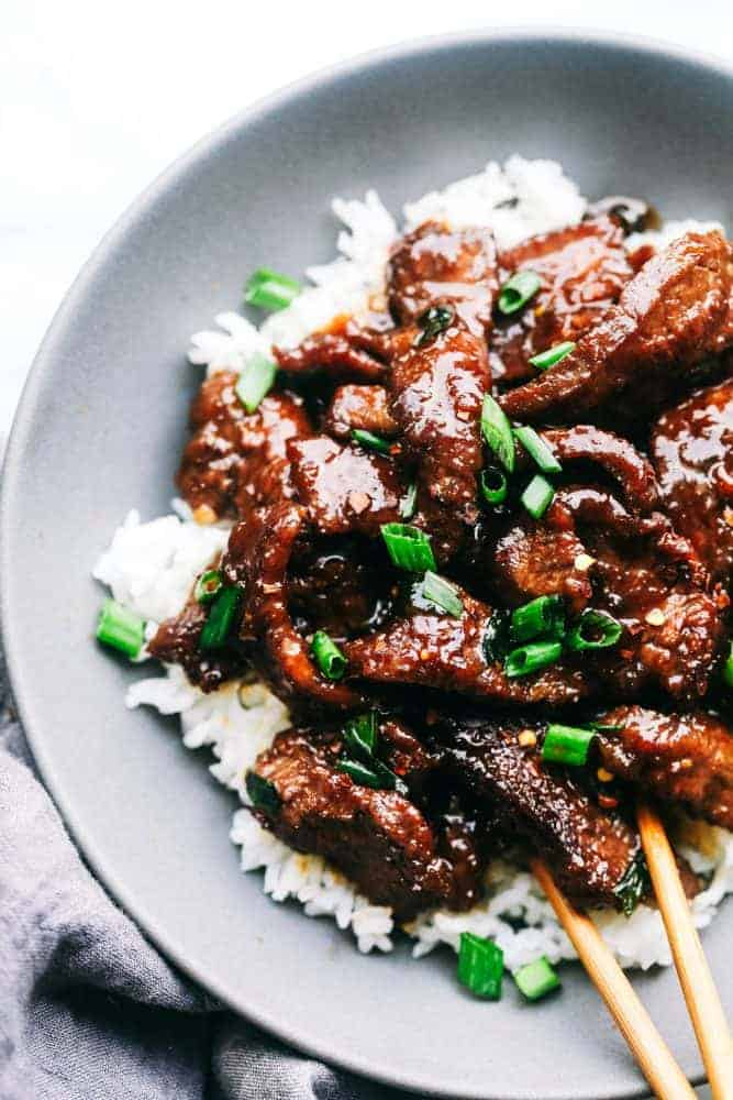 Super Easy Mongolian Beef (Tastes Just like P.F. Changs ...