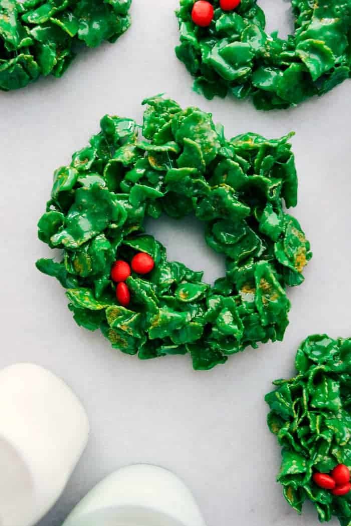 Christmas Cornflake Wreaths The Recipe Critic
