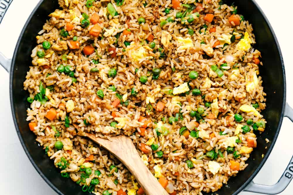 Super Easy Fast Fried Rice Recipe-[Video]