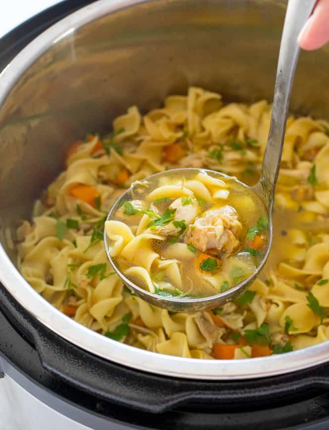 Pressure Cooker Chicken Noodle Soup Recipe