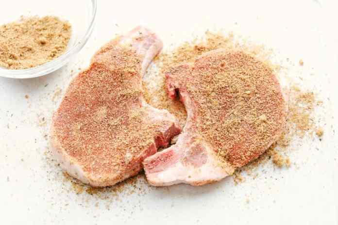 Seasoning Pork Chops.