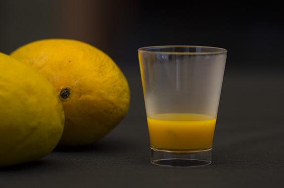 mango curry shots
