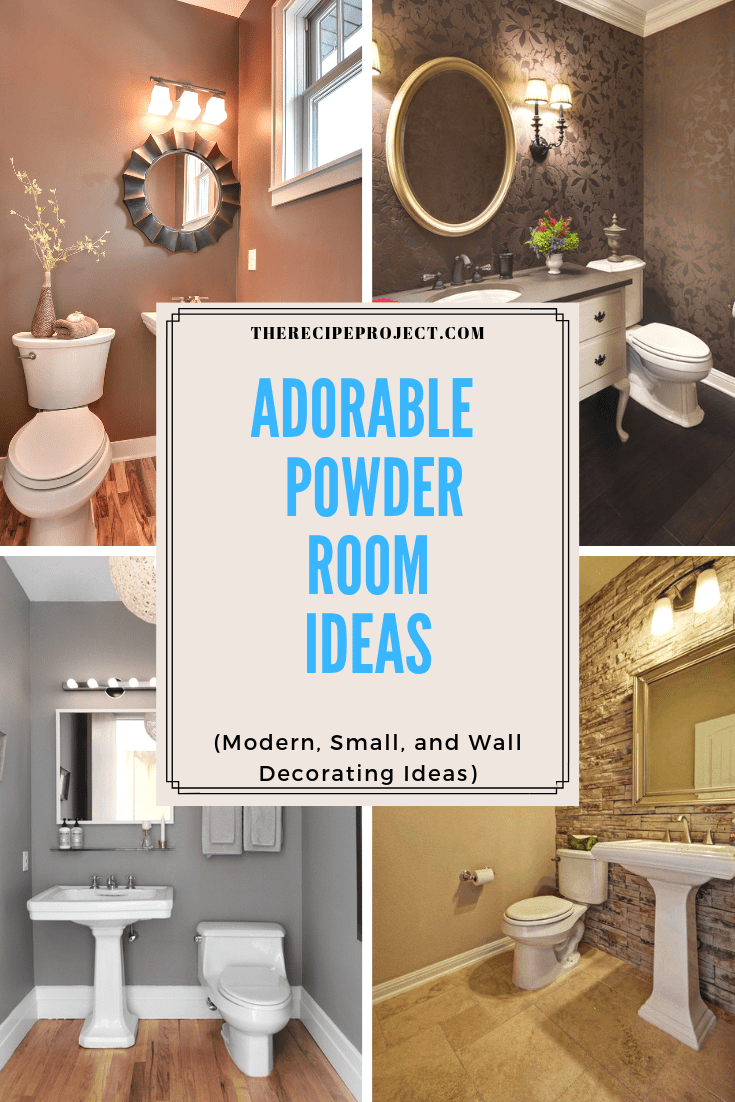 Adorable Powder Room Ideas (Modern, Small, and Decorating Ideas)
