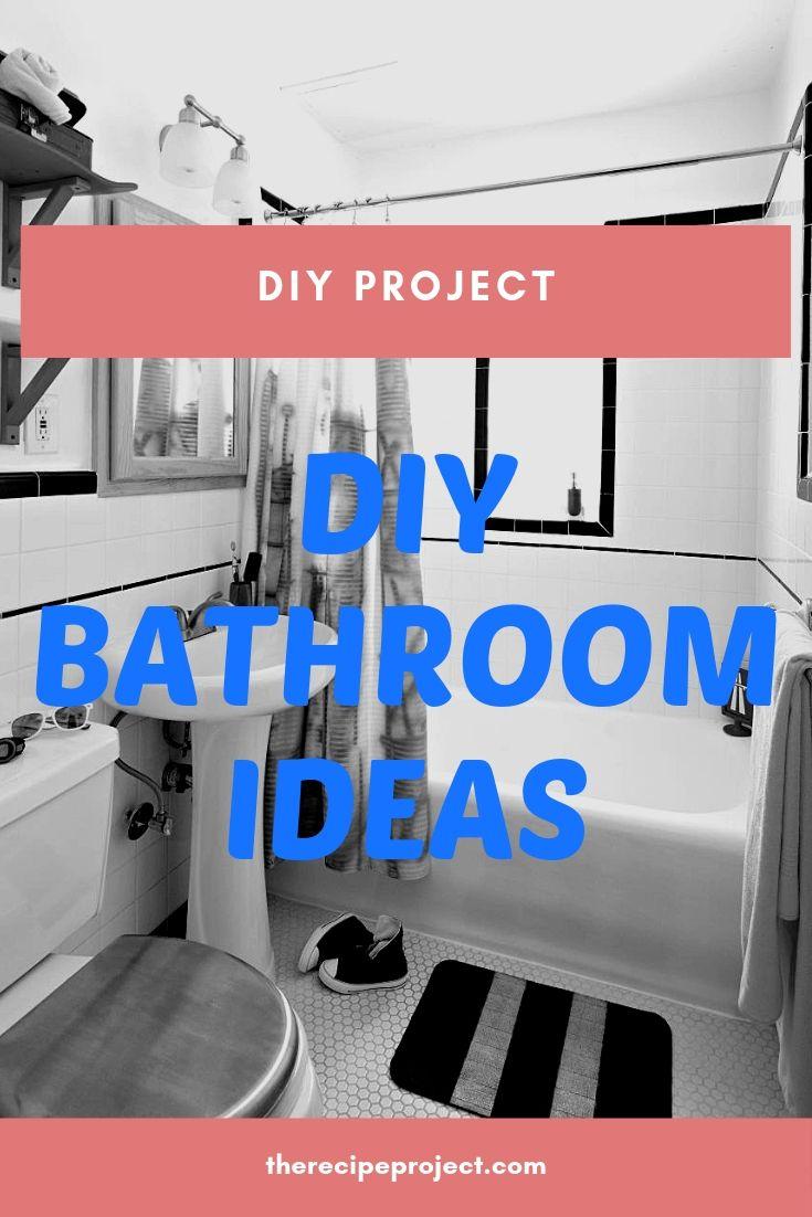 DIY Bathroom Ideas (DIY Bathroom Storage, Vanity, and Decorating Ideas)