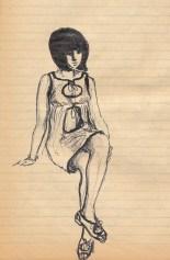 169 SB Girl in plastic dress