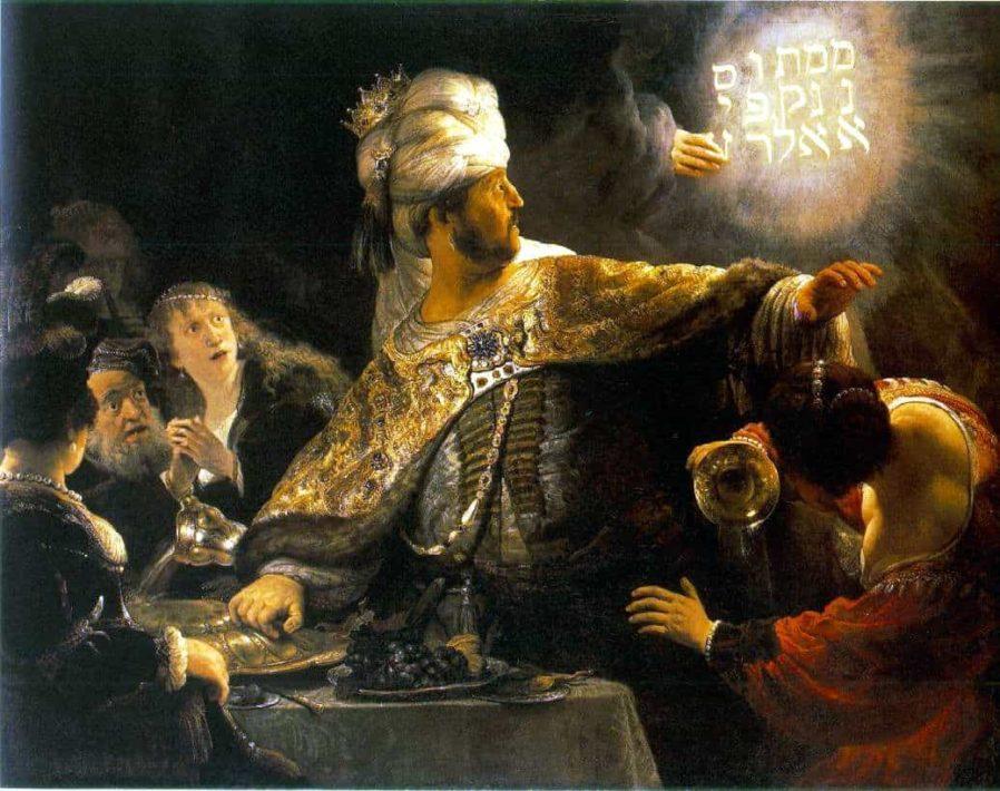 How did Belshazzar die?