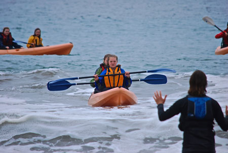 he eighth-grade class of Ascension School, including Carly Isaac, above, traveled to Cambria, California, April 21-25 to study environmental science and experience the culture of California's central coast, said Terrence Mullaney, principal of Ascension. The students visited tide pools along the Pacific coast; toured an elephant seal rookery; dissected squid; visited a plankton and sea kelp forest study; and observed birds, sea otters and sea caves while kayaking. (Photo Special to The Record)