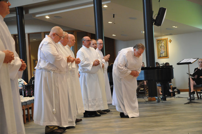 Eighteen men were ordained to the Order of the Deacon Aug. 20 at St. Patrick Church.