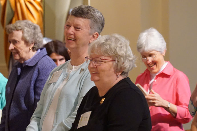 """About 250 women attended the """"Women of the Church"""" conference in Ferdinand, Ind., Oct. 7 to 9, including several Sisters of Charity of Nazareth and some staff members of the Archdiocese of Louisville agencies and parishes. (Record Photo by Marnie McAllister)"""