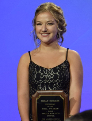 Holly Zoeller at the Awards celebration Oct. 21. (Photo Special to The Record)