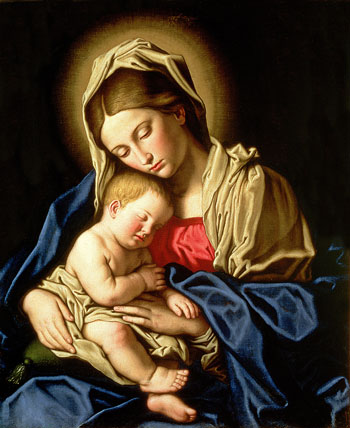Mary and the Christ Child are depicted in this 17th-century painting by Giovanni Battista Salvi. The feast of the Nativity of Christ, a holy day of obligation, is celebrated Dec. 25. (CNS/Bridgeman Images)
