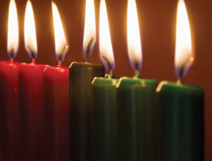 The Kwanzaa candles, pictured above, symbolize the struggle of the African American people and their hope for the future. (Photo Special to The Record)