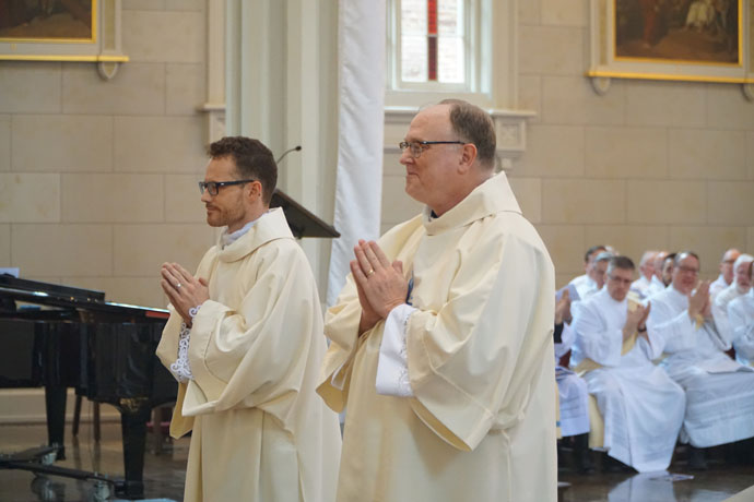 The candidates for ordination are presented to the archbishop and the assembly.