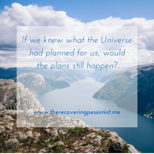 The Recovering Pessimist: If the Universe Provided a Head's Up --What would happen if the Universe gave us a head's up? | www.therecoveringpessimist.me #amwriting #recoveringpessimist